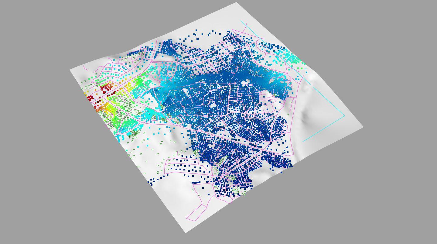 12 / Urban Network Analysis (UNA) + Image Sampler in Grasshopper